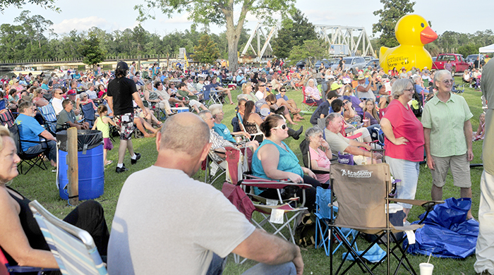 Milton Citizens Attend an Outdoor Event