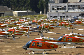 Numerous Helicopters on Whiting Field