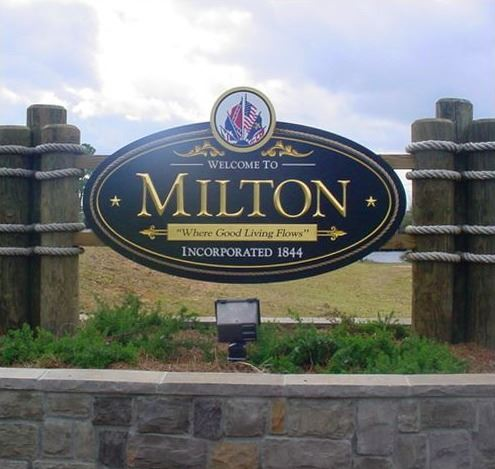 Sign of Milton Florida