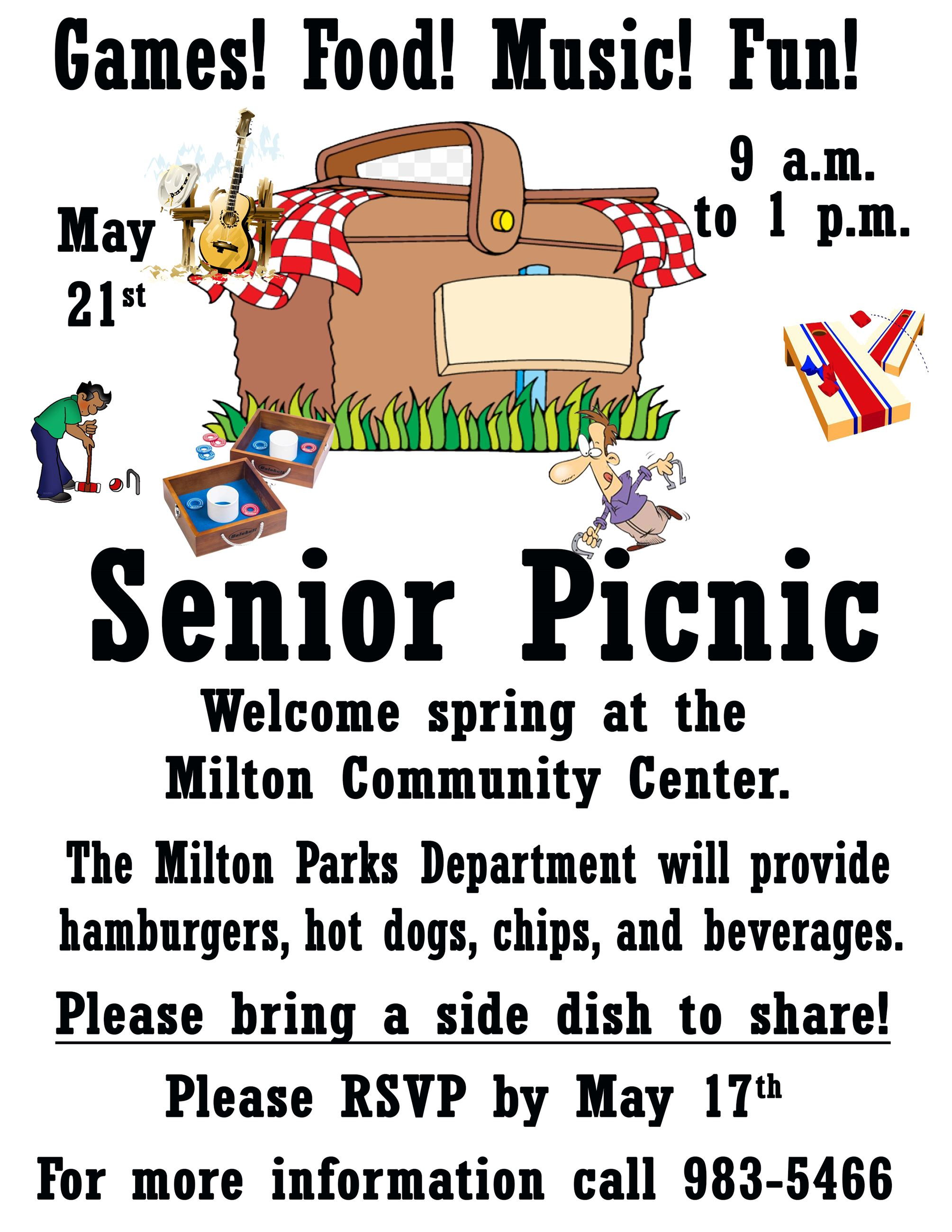 Senior Picnic 19 May