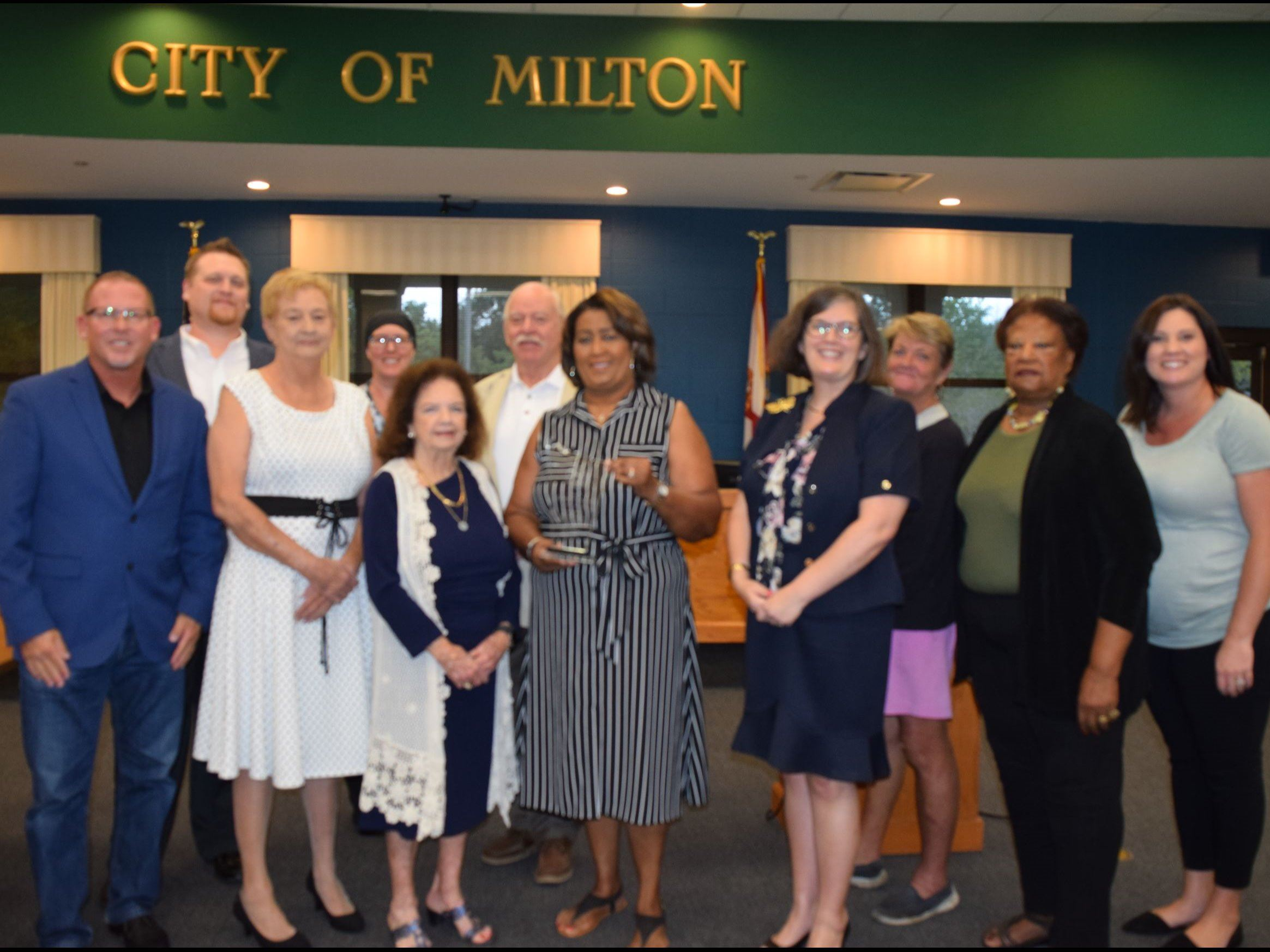 Milton City Council with Carolyn Brewton