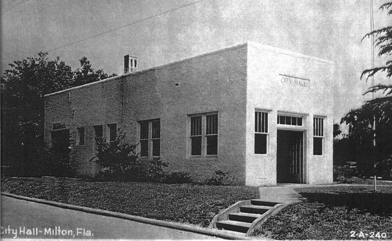 Black and White Photo of the Fire Department